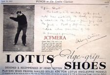 "Original 1937 Print Advert - LOTUS ""Edge-Grip' Golf Shoes Henry Cotton Ad"