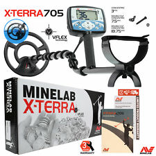 "Minelab X-Terra 705 Metal Detector with 9"" Search Coil and 3 Years Warranty"