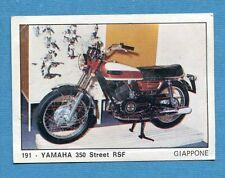 MOTO 2000 - Panini 1972 -Figurina-Sticker n. 191 - YAMAHA 350 STREET RSF -Rec