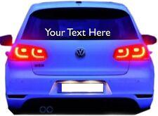 2 x Personalised Custom Rear Window Car Stickers Vinyl Name Lettering Decals