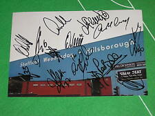 Sheffield Wednesday FC 2013/14 Squad Signed x 15 Hillsborough Stadium Photograph