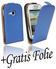 Handytasche Etui für Samsung Galaxy Young Duos S6312 BLAU - Chic + Schutzfolie