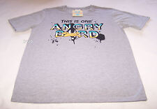 Looney Tunes Daffy Duck Mens Grey Angry Printed T Shirt Size XS New