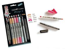 Copic Ciao 5+1 Manga 7 Set Twin Tipped Markers Plus 0.3 Fineliner for Manga Art