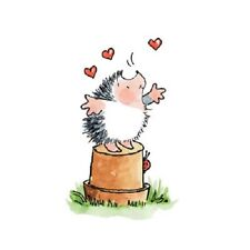 Penny Black Rubber Stamps Hedgehog Hearts Top Of The World New wood Stamp