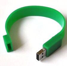 USB Stick 8Gb Silikon-Armband Verde Pulsera Flash Drive Verde