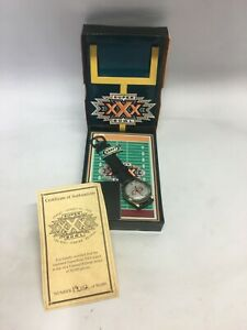 Super Bowl XXX Limited Edition Watch with Original Box and Certificate