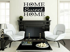 """Home Sweet Home"" Wall Quote, Wall Sticker, Decal, Modern, Vinyl, Transfer."