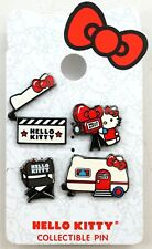 NEW Universal Studios Sanrio Hello Kitty Movie Trailer Clapboard Chair Pin 4 Set