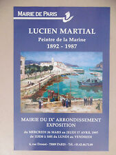 Lucien MARTIAL affiche originale 97 Marine Marins Peintre de marine POM
