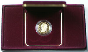 1988-W Proof Gold Olympic Games $5 Coin in OGP with COA