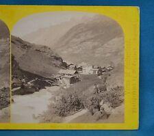 1860s Suisse Stereoview 63 Vue A Zermatt Alpine Club W England