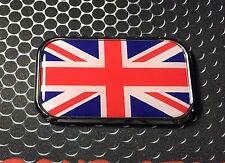 """Great Britain Flag Domed CHROME Emblem Union Jack Proud Flag Car 3D 3""""x 1.8"""""""