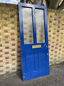Reclaimed Victorian Wooden Panel External Front Door