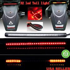 """Universal 8"""" Motorcycle Light Strip Tail Brake Stop Turn Signal 32LED Flexible"""