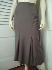 Burberrys Skirt 40 Long Fluted Olive Green Inverted Pleats Lined Made In Italy