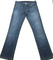 Womens Citizens of Humanity Jeans 25 Straight Low Waist Dark Wash Blue Fade USA