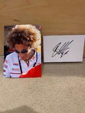 Marco Simoncelli Moto GP Legend 6x4 tarjeta firmada