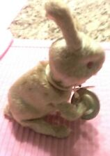 "(pgasteelers1)Vintage Mechanical windup Toy 8"" Bunny Rabbit playing cymbols old"