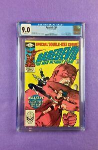 "Daredevil #181 (1982):  CGC 9.0!  ""Death"" of Electra!  Frank Miller!"