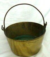 large very heavy solid brass Jam pan cauldron planter 28cm diameter cooking pot