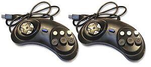 2 x Sega Mega Drive MegaDrive Replacement 6 Button Controller Joypad UK