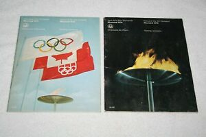 1976 Summer Olympic Games Opening & Closing Ceremony PROGRAMS * Montreal