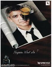 PUBLICITE ADVERTISING 105 2008  Le café NESPRESSO & GEORGE CLOONEY