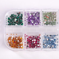 3000pcs 2mm Colorful Nail Art Rhinestones Glitters Acrylic Tips Decoration Wheel