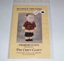 """BEAN POLE """"PIPE""""STERS PVC PIPE CHARLIE CLAUS PATTERN ONLY 1993 USA OOP"""