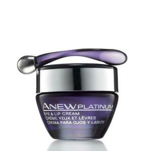 New boxed Avon Anew Platinum eye and lip cream .50 oz