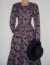 BNWT Laura Ashley vintage wool/cotton rear ties, autumn/winter dress, size 14 UK