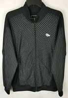 OAKLEY Mens Zip Up Warm Up Jacket Sweater Size Large L Black Gray Spellout New