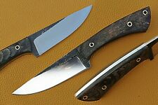 """9.5"""" Custom Hand forged 1095 Steel Hunting Knife with Ram Horn Handle"""