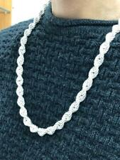 925 Sterling Silver Rope Genuine Chain Necklace 11mm Wide 26 inc 87.7 gram NEW