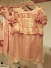 Chloé Chloe Peach Ruffle Detail Baumwolle Sundress Größe Euro 34 US 2 UK 6 XS