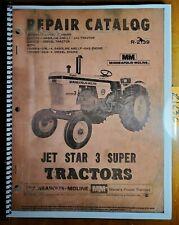 Minneapolis Moline Jet Star 3 Super Tractor Repair Parts Catalog Manual R 2139