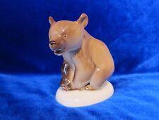VINTAGE Porcelain Figurine Soviet ussr russian bear lomonosov LFZ