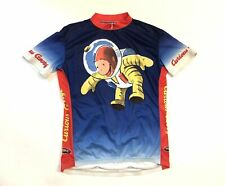 Curious George in Space Men's 2XL Primal Short Sleeve Cycling Jersey Blue/Yellow