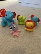 fisher price set of of 5 baby animal toys fun sounds and movements