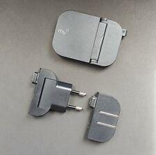 MU Slim Folding International Charger with UK/EU/US Plugs, Single usb Port_Black