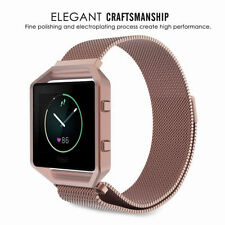 7 Colors Milanese Magnetic Stainless Wrist Watch Band +Frame For Fitbit Blaze US