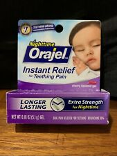 Orajel Nighttime Instant Relief, Teething Pain Longer Lasting, Cherry EXP 10/19