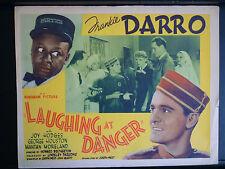 1940 LAUGHING AT DANGER -TITLE LOBBY CARD - MANTAN MORELAND - BLACK AMERICANA
