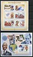 Comoros Comores 2008 MNH Nobel Peace Prize Mandela Annan 6v M/S 1v S/S Stamps
