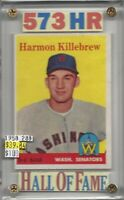 Harmon Killebrew Washington Senators 573 Homeruns HOF 1958Topps #288 BV$100