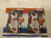 (2) 2013-14 Panini Prizm Dwayne Wade Red White Blue Prizm Lot of 2
