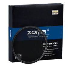 ZOMEI 77mm Glass HD slim CPL Circular Polarizing Filter Camera  DSLR Lenses
