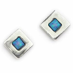 Aviv Jewelley Sterling Silver Opal Earrings