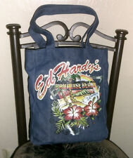 Ed Hardy's Paradise Beach Blue Denim/Jean Shoulder Bag/Purse/Bag/Tote